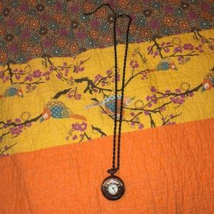 Copper Necklace with Clock